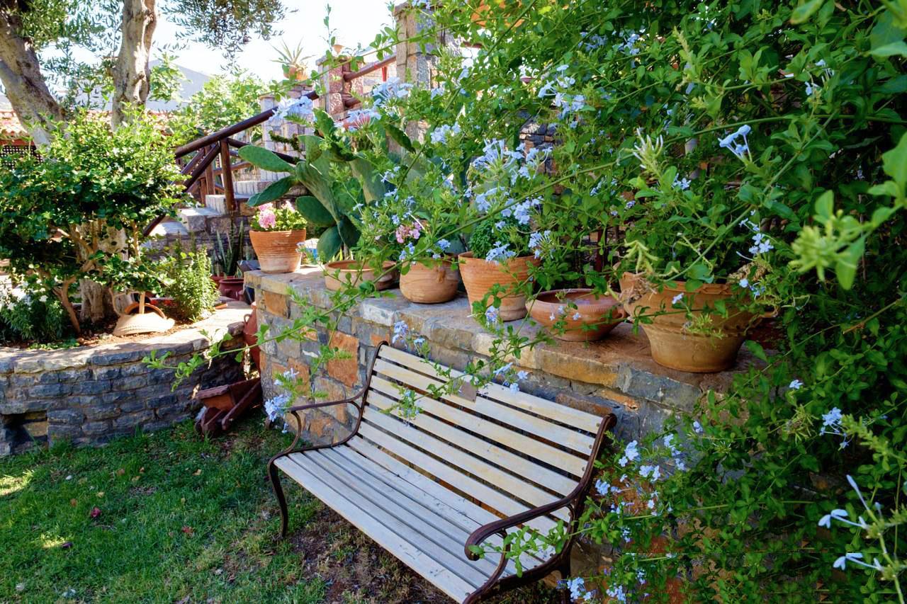 Elounda Apartments & Studios - Corali Studios & Portobello Apartments - Garden Bench